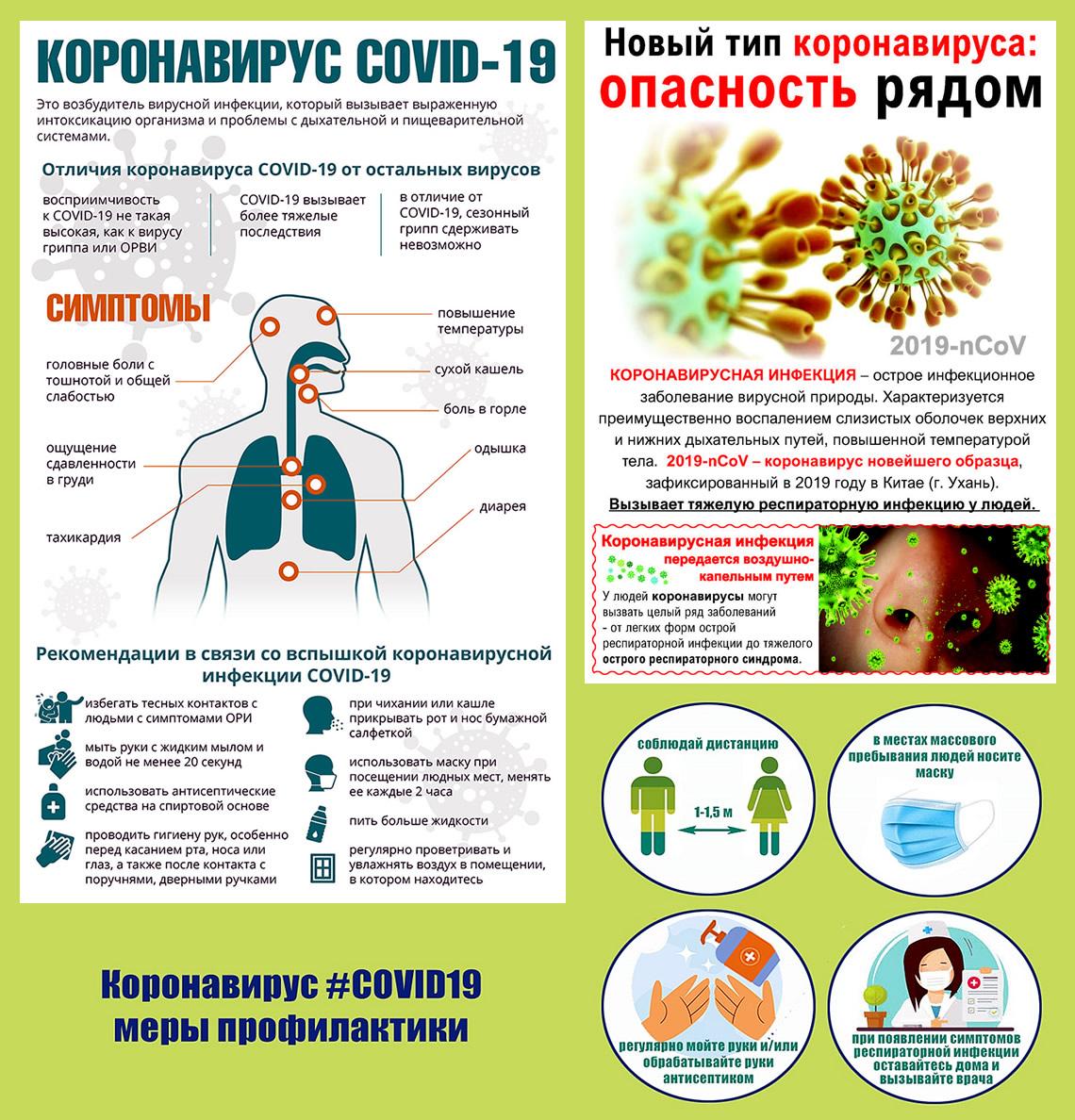 Памятки по профилактике коронавируса